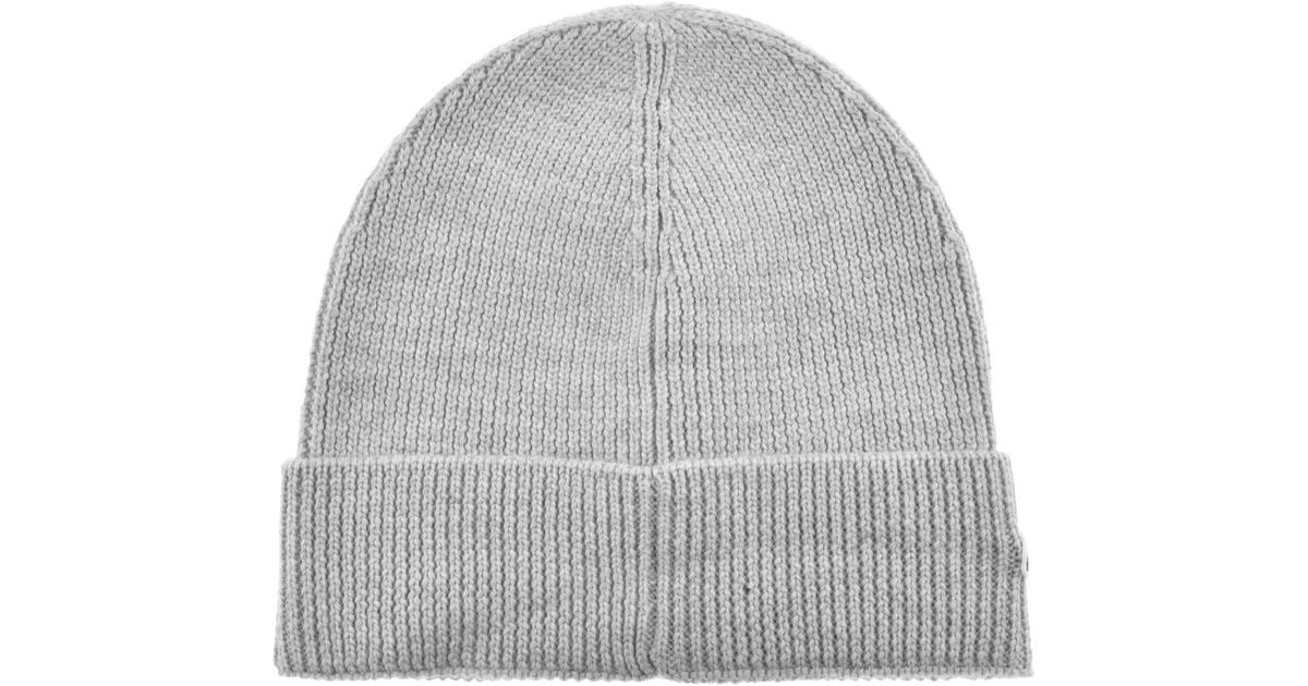 Lacoste Ribbed Beanie Grey in Gray for Men - Lyst aa3c446c99e