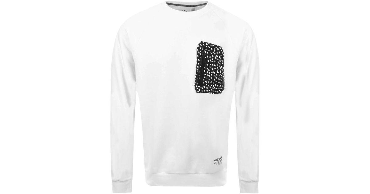 7d0a1e369bae7 Nmd For In White Lyst Men Originals Sweatshirt Adidas qwCp6q