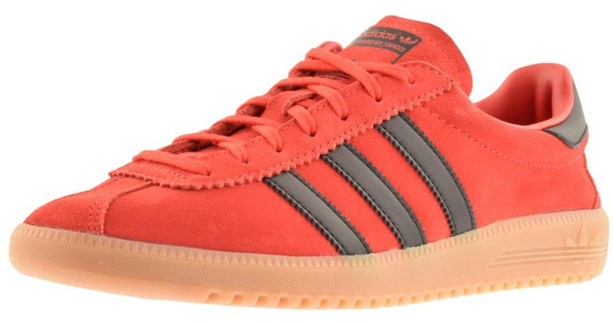 more photos 5ee06 2df4d adidas Originals Bermuda Trainers Red in Red for Men - Lyst