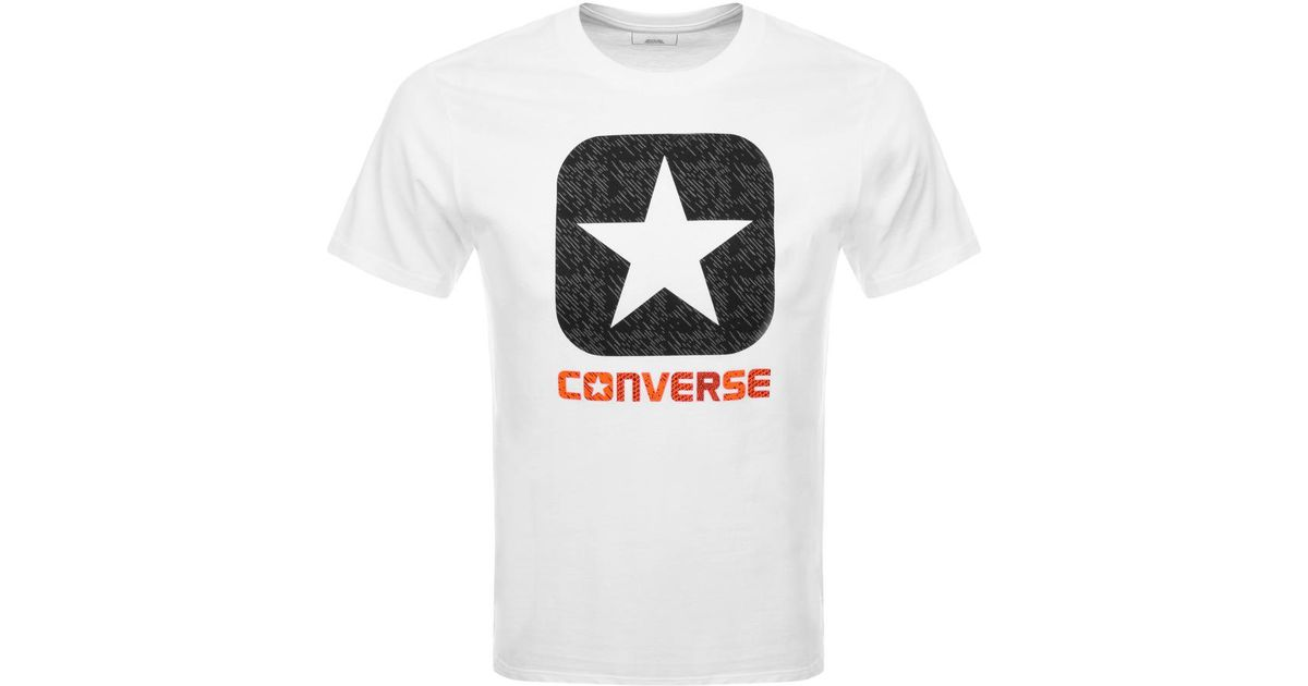 74c5af12f1c6 Converse All Star Box Star Logo T Shirt White in White for Men - Lyst