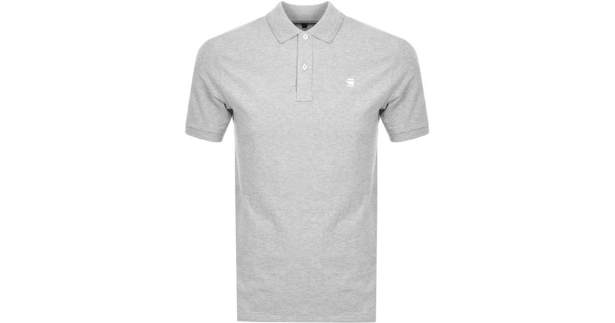 37b56f3dc57 Lyst - G-Star RAW Dunda Polo T Shirt Grey in Gray for Men