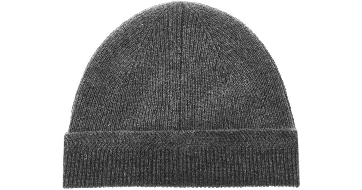 5a76fa536df Lyst - Lyle   Scott Lyle And Scott Racked Rib Beanie Hat Grey in Gray for  Men