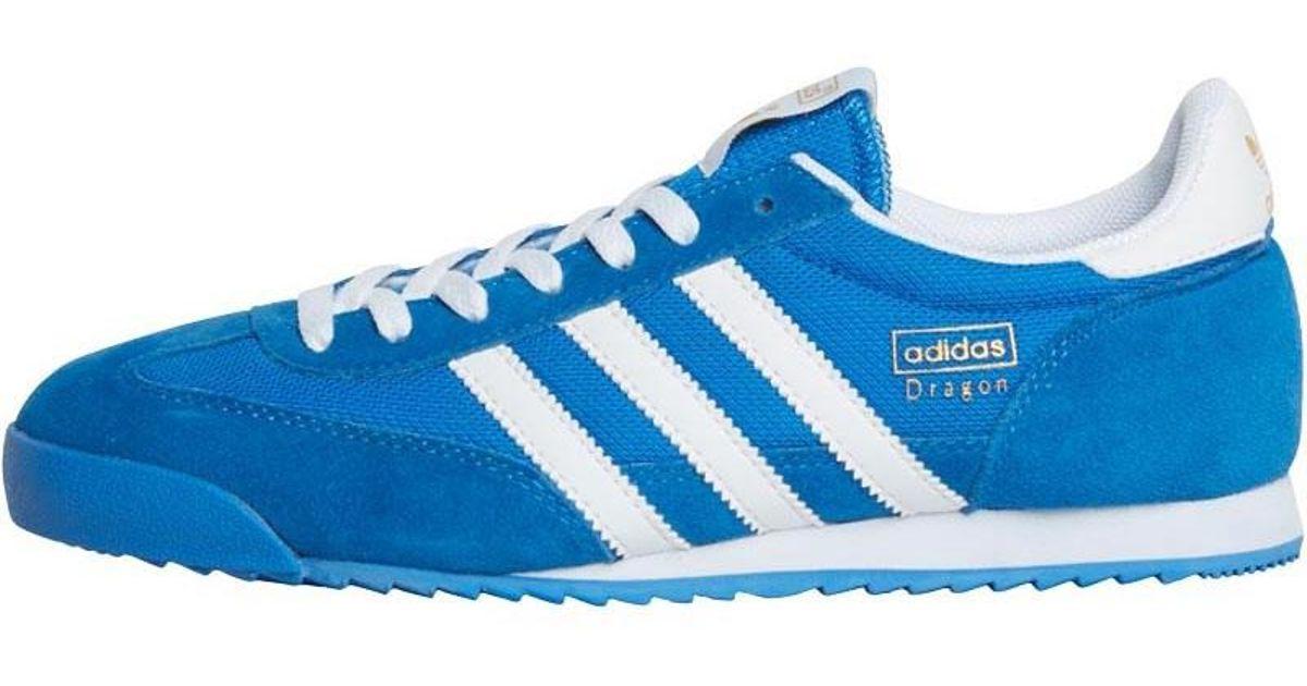 Adidas originali drago formatori bluebird / metallico oro / bianco