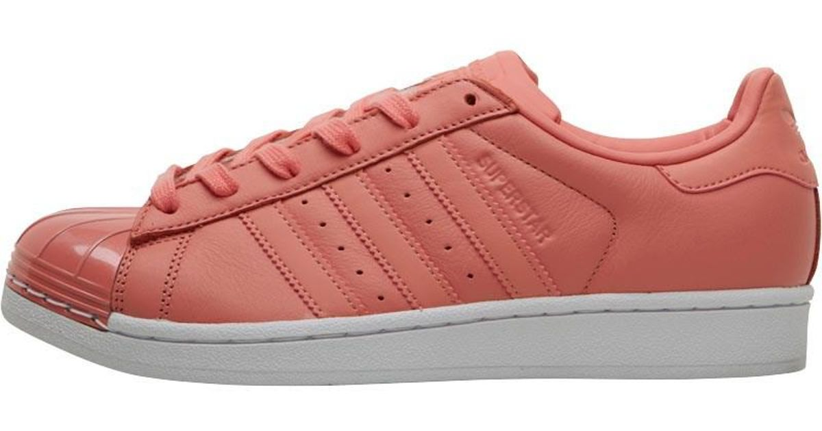 702f55dab67 adidas Originals Superstar Metal Toe Trainers Tactile Rose footwear White  in Pink - Lyst