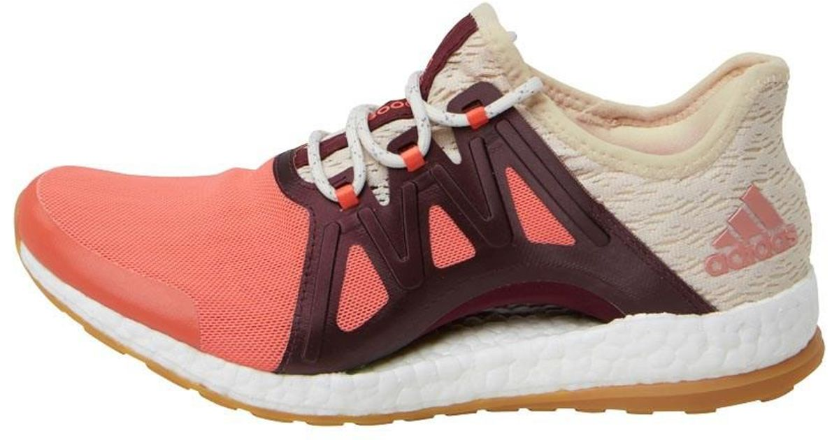 416ad96635482 adidas Pureboost Xpose Clima Running Shoes Easy Coral linen maroon in Pink  - Lyst