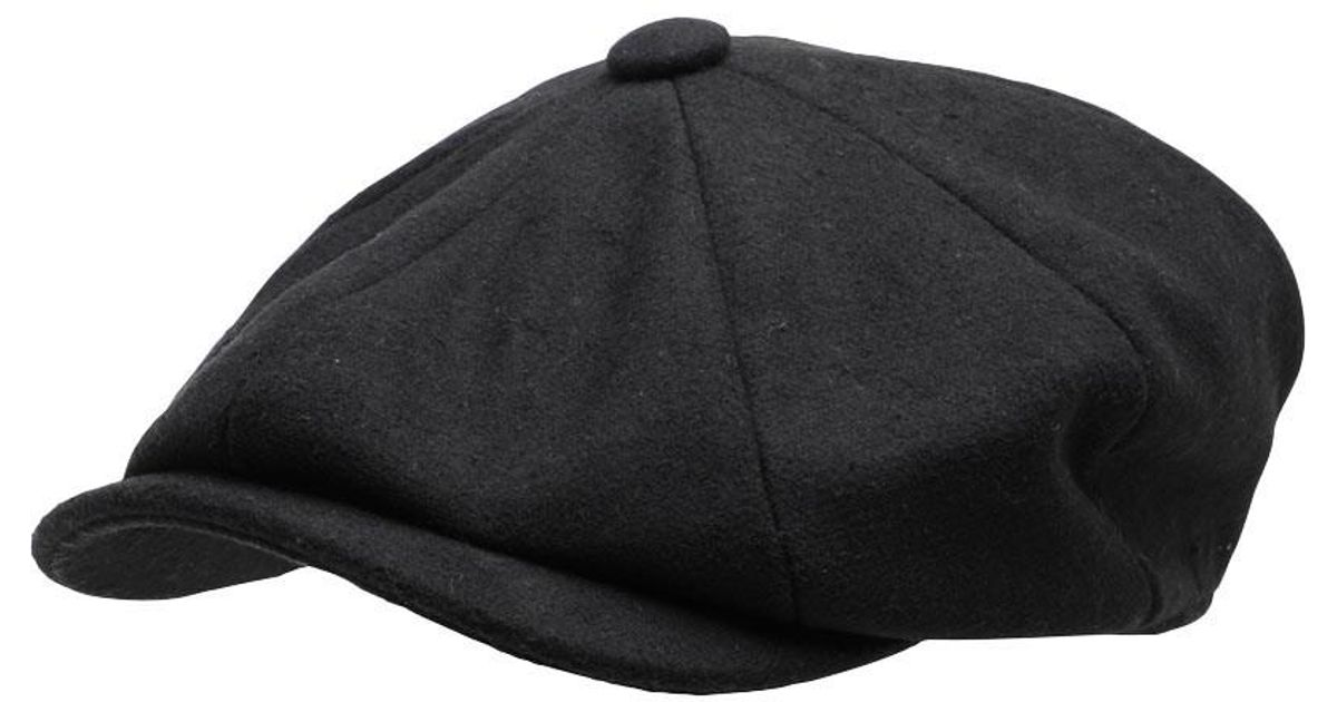 ae5308739 French Connection Baker Boy Hat Black in Black for Men - Lyst