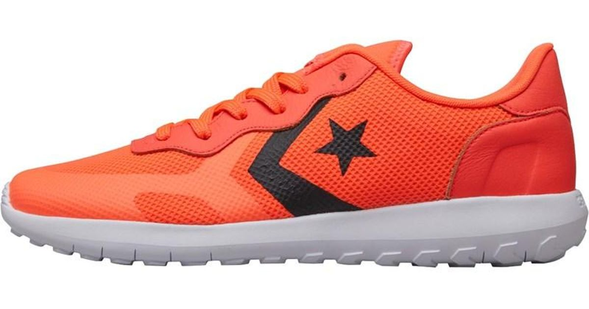 reputable site 05cb7 12063 Converse Thunderbolt Ultra Ox Trainers Orange black white in Orange - Lyst