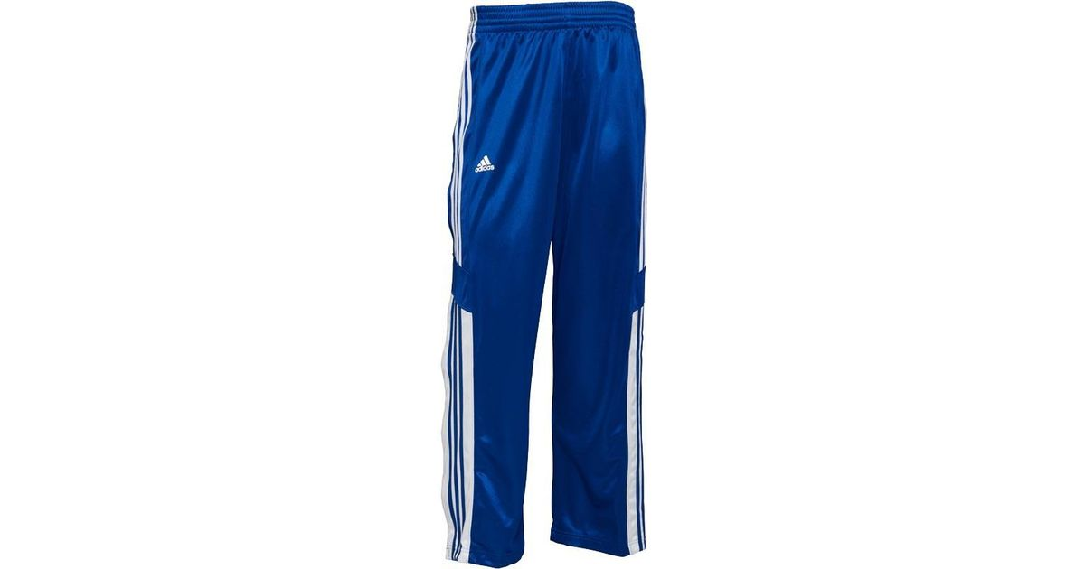 00fe6445317f adidas 3 Stripe Warm Up Popper Basketball Track Pants Core Royal white in  Blue for Men - Lyst