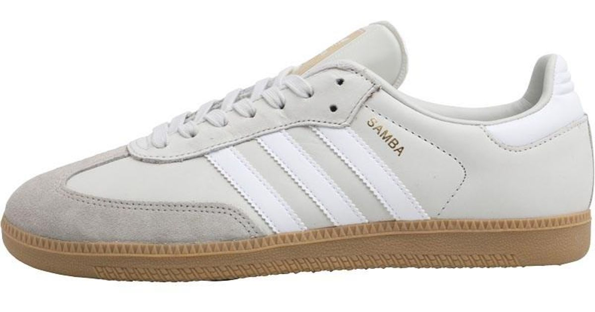 new style 4d85b bad7e adidas Originals Samba Og Trainers Beige vintage White footwear White clear  Granite in White for Men - Lyst