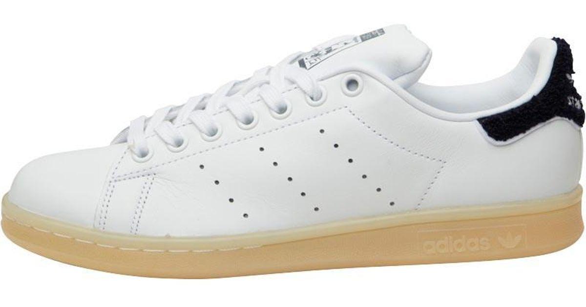 adidas Originals Stan Smith Chenille Trainers White white collegiate Navy  in White - Lyst 6ea9a307c