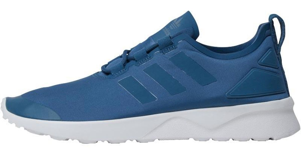 d2fe8d1ab Adidas Originals Zx Flux Adv Verve Trainers Blanche Blue blanche Blue core  White in Blue - Lyst