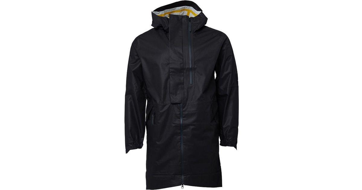56fa93609a79 adidas Icon Parka Utility Black in Black for Men - Lyst
