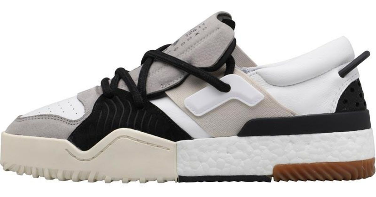 dd89cf4cf0e46 adidas Originals X Alexander Wang Bball Low Trainers White medium Grey  Solid Grey core Black in Gray for Men - Lyst