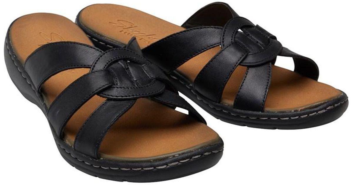 873eefcca907 Skechers Passenger Getaway Sandals Black in Black - Lyst