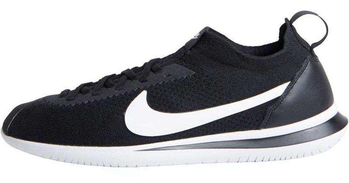 0eb35183eeb0 Nike Cortez Flyknit Trainers Black white in Black for Men - Lyst