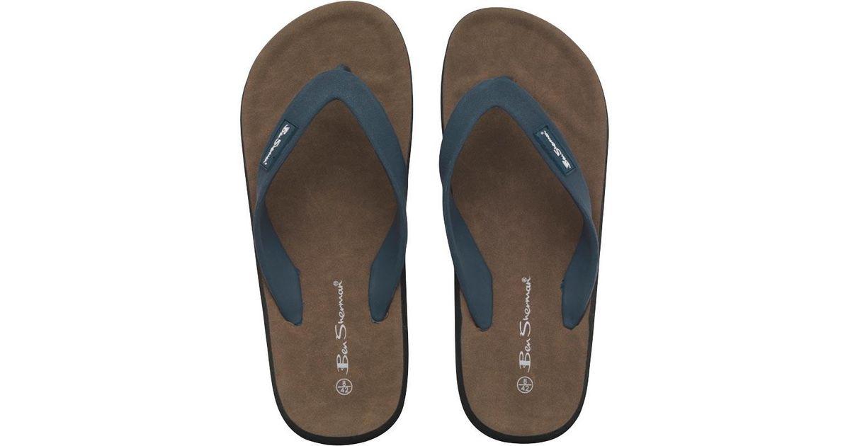 f236161c380 Ben Sherman Dune Sandals Navy in Blue for Men - Lyst