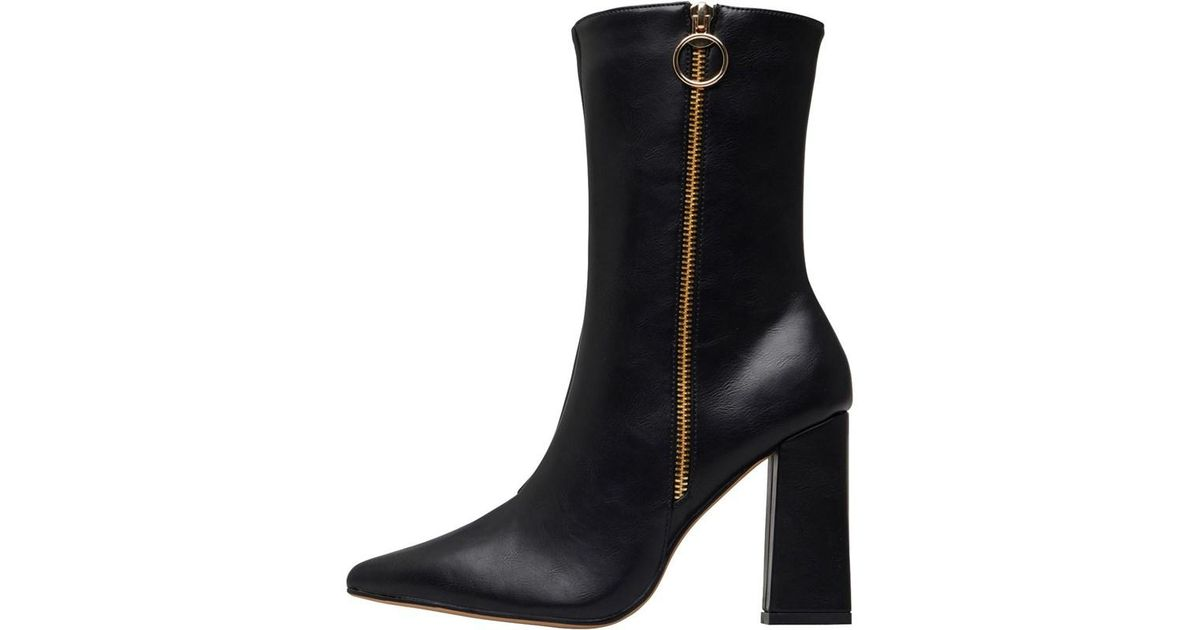 0c807281b4a Truffle Collection - Bernie Pu Heeled Boots Black - Lyst