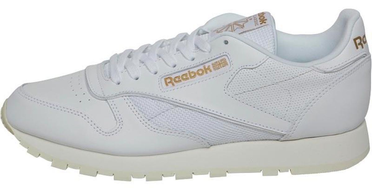 f89536bf491e0 Reebok Classic Leather Alr Trainers White chalk snowy Grey in White for Men  - Lyst