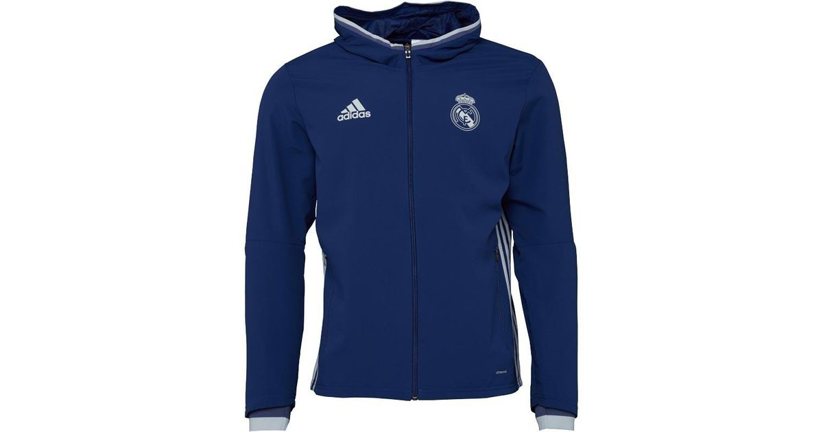adidas Rmcf Real Madrid Presentation Jacket Raw Purple crystal White in  Blue for Men - Lyst 67807c6151