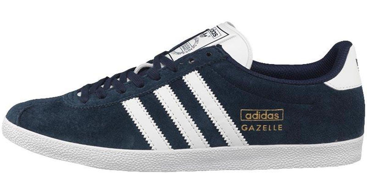 7d3fcc99a adidas Originals Gazelle Og Trainers Dark Indigo  White  Metallic Gold in  Blue for Men - Lyst
