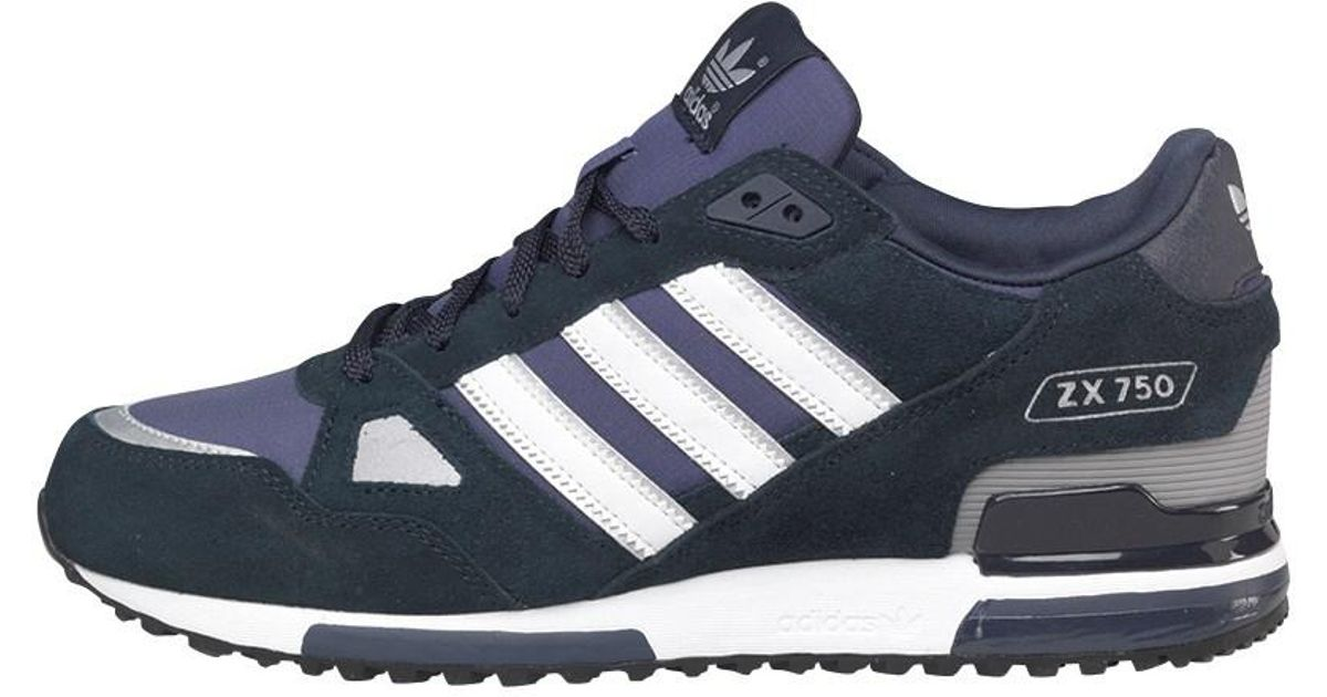 c516d2f0857b7 adidas Originals Zx 750 Trainers New Navy white in Blue for Men - Lyst