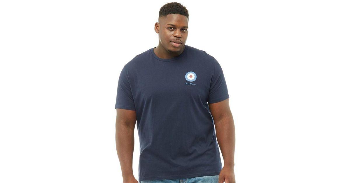 ec22e23ea Ben Sherman Plus Size Medium Target T-shirt Navy in Blue for Men - Lyst
