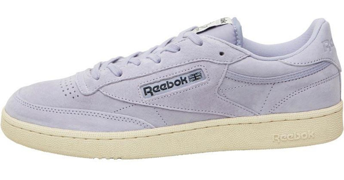 c7fc01f17cb Reebok Club C 85 Pastels Trainers Moon Violet paperwhite in Purple for Men  - Lyst