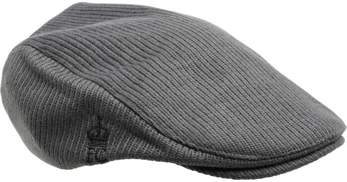4717ecb474 French Connection Travis Flat Cap Charcoal in Gray for Men - Lyst