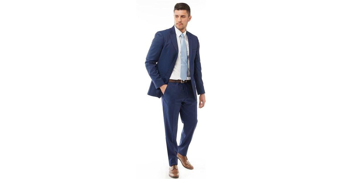 2be9ca02cc2a Ted Baker Decdent Debonair Plain Suit Navy in Blue for Men - Lyst