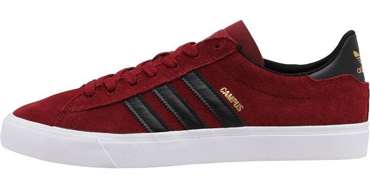 27d1f457b2ed adidas Originals Campus Vulc Ii Trainers Collegiate Burgundy core Black  footwear White in Red for Men - Lyst