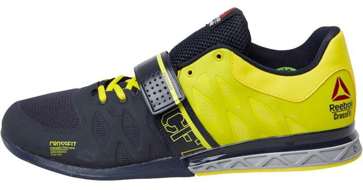 b53c233d625f Reebok Crossfit Lifter 2.0 Training Shoes Navy stringer Yellow metallic  Silver in Blue for Men - Lyst