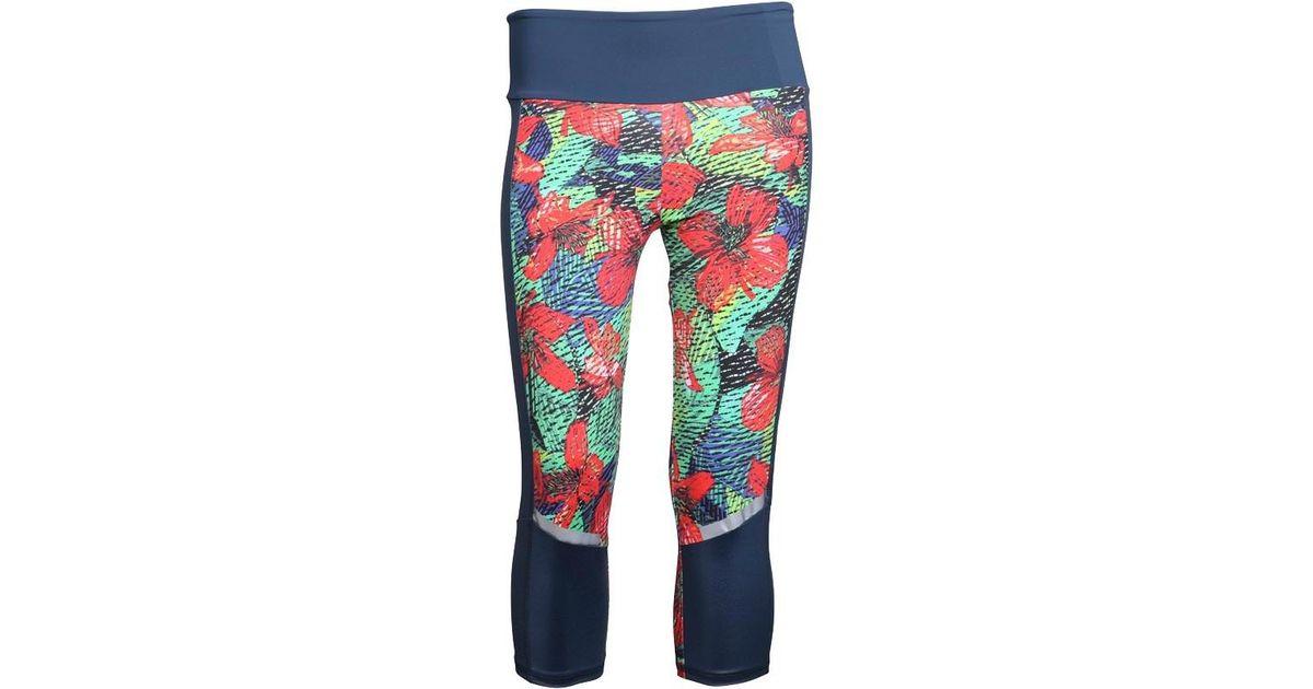 ba2e9ed1883a adidas Salinas Climalite Tropical Capri Leggings Iii Blue green red in Blue  - Lyst