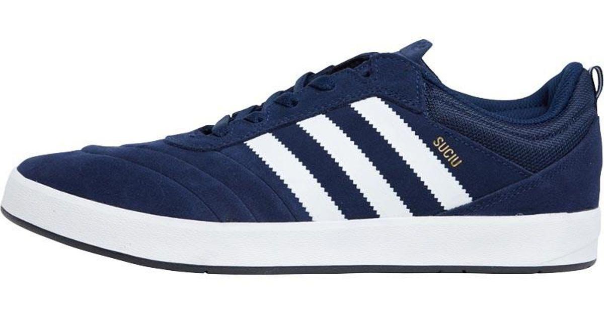 6858ab3800c6 Adidas Originals Suciu Adv Trainers Collegiate Navy footwear White gold  Metallic in Blue for Men - Lyst