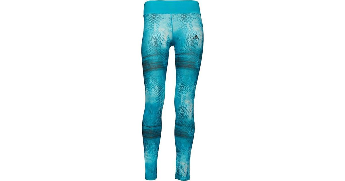 32e37a5a1d9f5 adidas Ultimate Climalite Tight Leggings Print/energy Blue in Green - Lyst