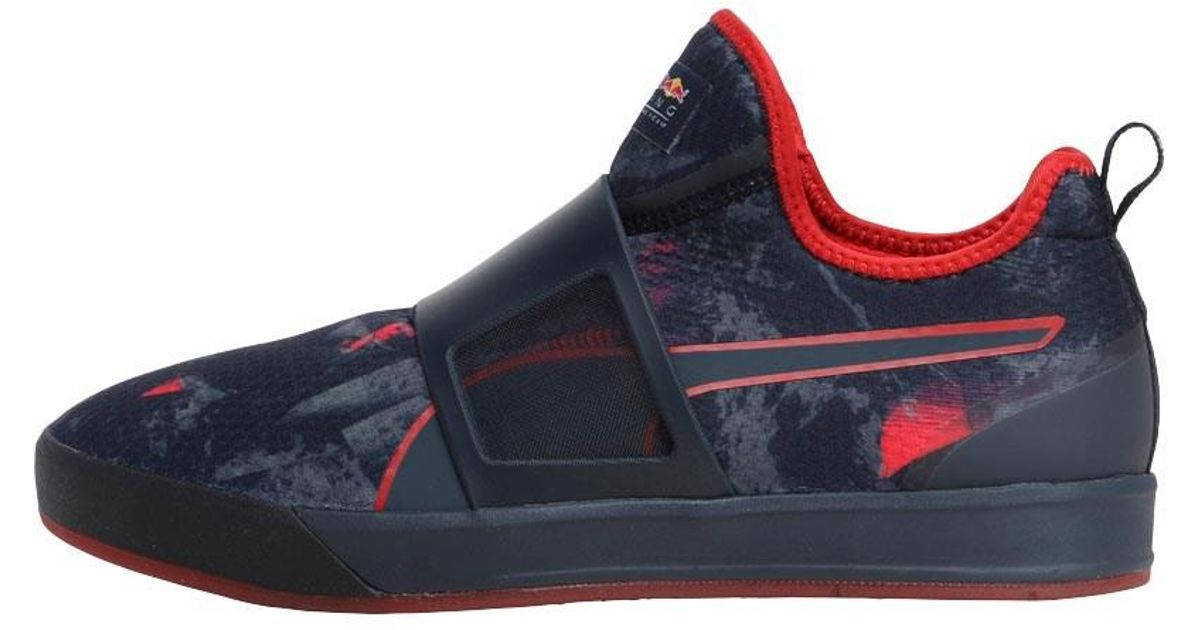 6b50fe5a0496 ... real puma f1 red bull racing wssp team booty trainers total eclipse red  in blue for