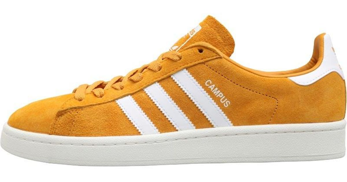 69a49ddf323 adidas Originals Campus Trainers Tactile Yellow footwear White chalk White  for Men - Lyst