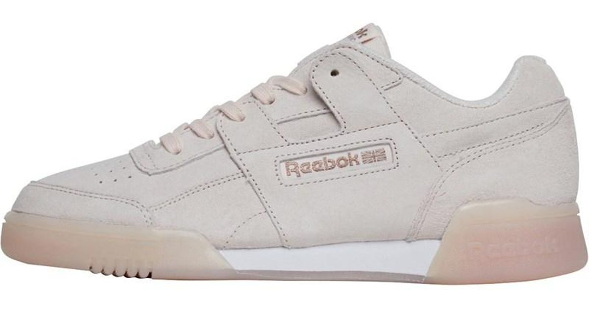 8244253e947f Reebok Workout Plus Ice Trainers Pale Pink white rose Gold in Pink - Lyst