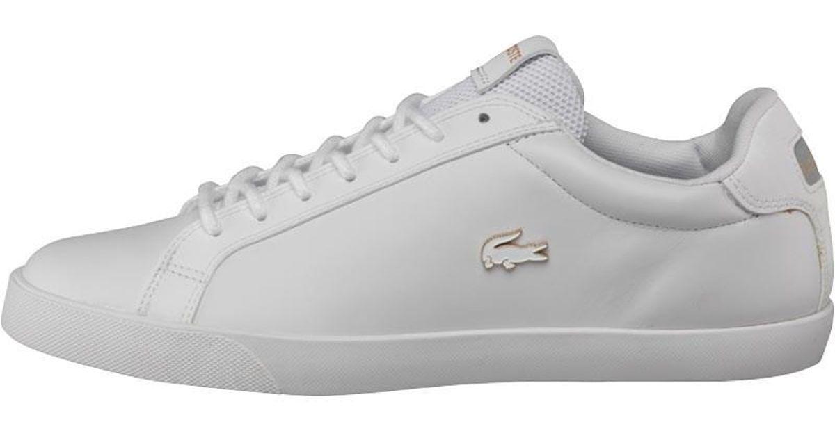 25096189b7248 Lacoste Graduate Vulc Platinum Trainers White grey in White for Men - Lyst