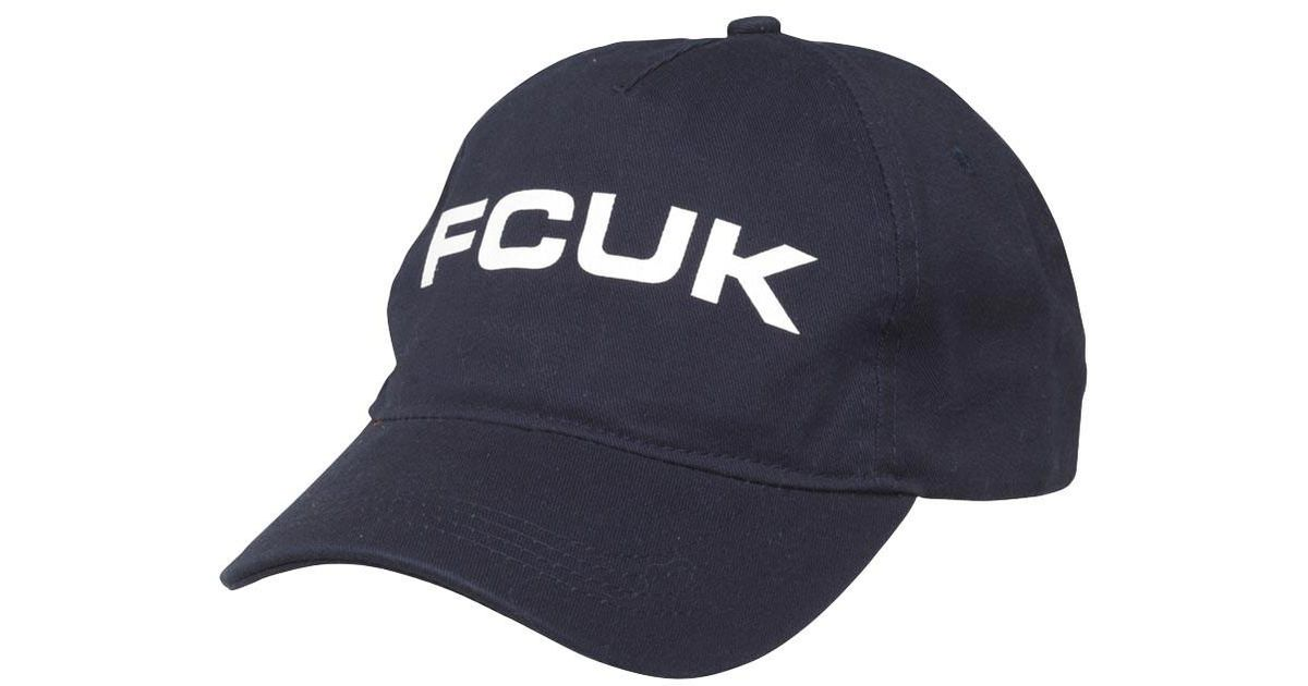 931202a4baba8 French Connection Fcuk Bold Washed Cotton Cap Marine in Blue for Men - Lyst