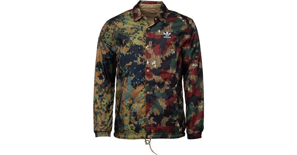 2eee5f4a0491e adidas Originals X Pharrell Williams Hu Hiking Camo Coach Jacket  Multicolour hemp in Green for Men - Lyst