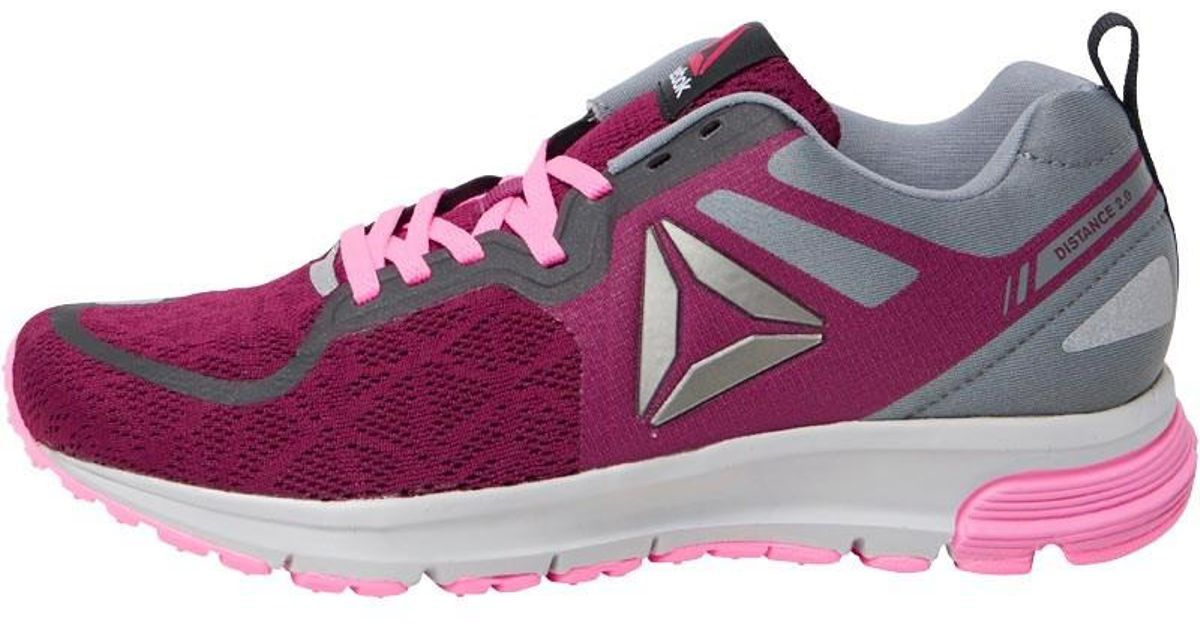 Reebok One Distance 2.0 Neutral Running Shoes Rebel Berry poison Pink skull  Grey in Purple - Lyst ecc62026e