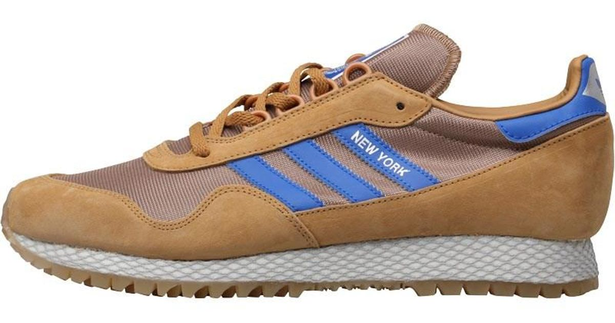 cae84645b85 adidas Originals New York Trainers Mesa/cardboard/gum 2 in Blue for Men -  Lyst