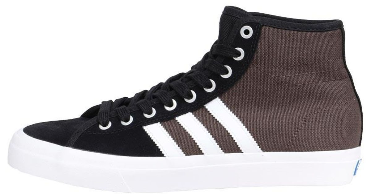 best service 8e731 6905d adidas Originals Skateboarding Matchcourt High Rx Trainers Core Black white  brown in Black for Men - Lyst