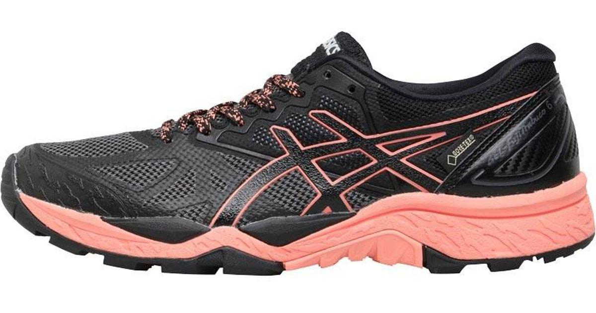 ae844bf20f9e6 Asics Gel Fujitrabuco 6 Gore-tex Trail Running Shoes Black begonia  Pink black in Black - Lyst