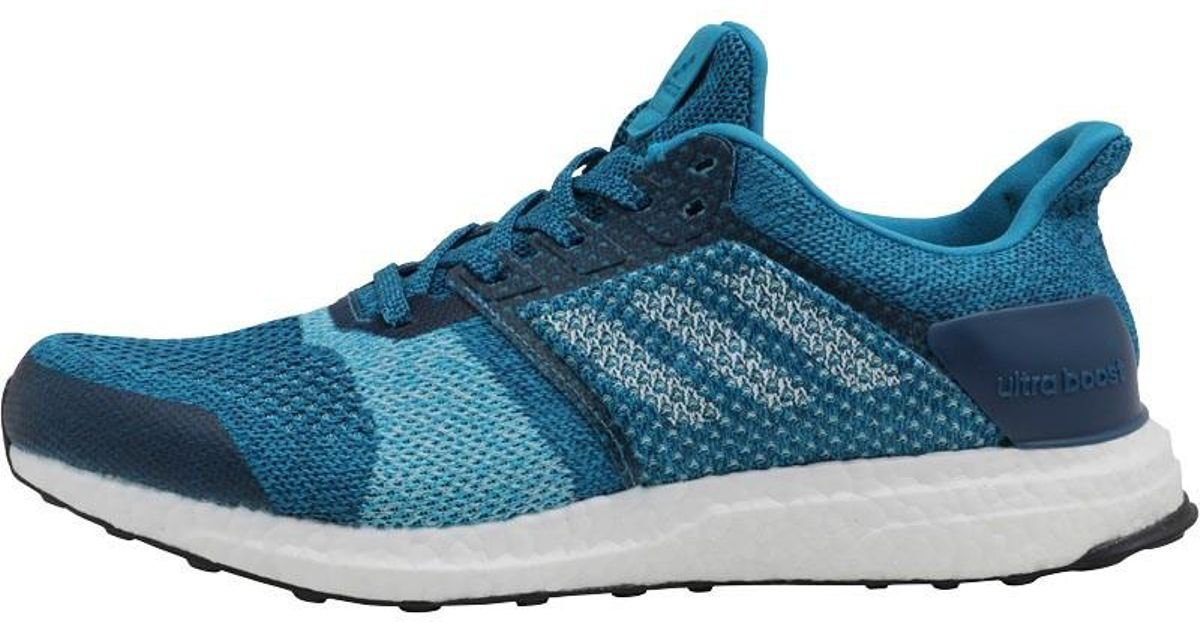 6e99a7cab0777 adidas Ultraboost Stability Running Shoes Mystery Petrol white blue Night  in Blue for Men - Lyst
