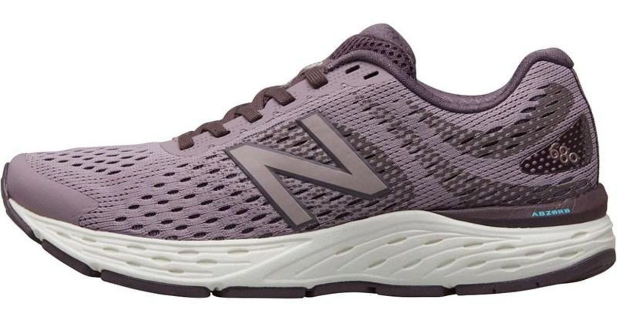 New Balance W680 V6 Neutral Running Shoes Pinkpurple