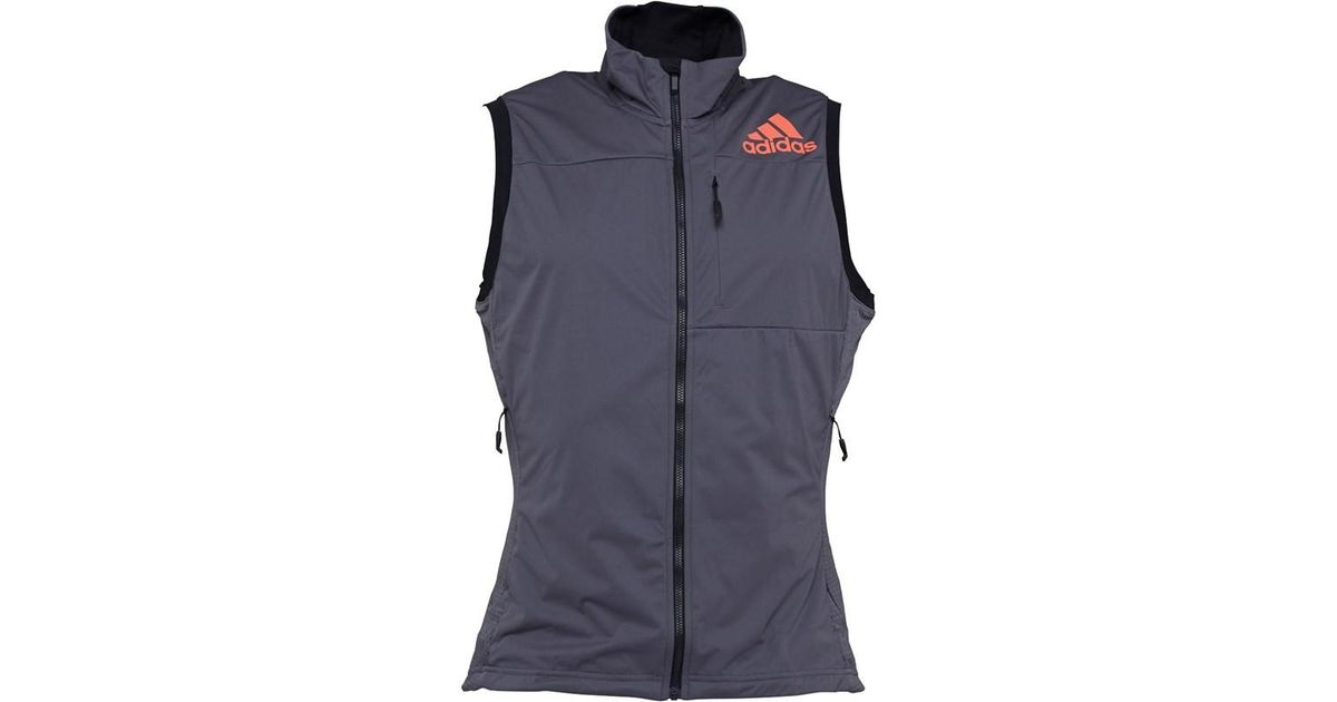 newest fb313 78556 adidas Xperior Running Vest Grey Five energy in Gray for Men - Lyst