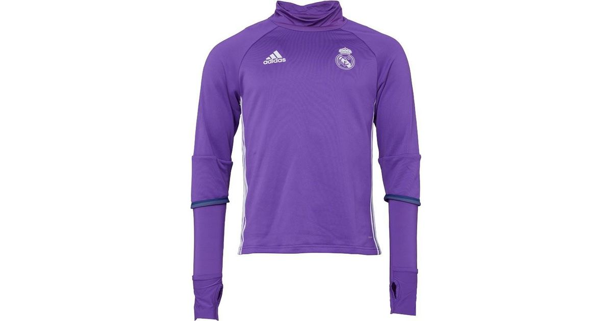0c74eb61af3 adidas Real Madrid Training Top Raw Purple crystal White in Purple for Men  - Lyst