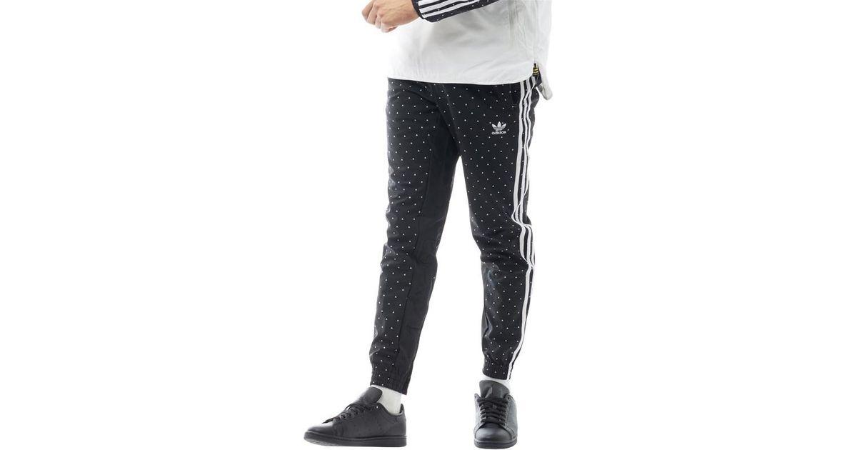 5f48318de adidas Originals Pharrell Williams Hu Carrot Track Pants Black white in  Black for Men - Lyst