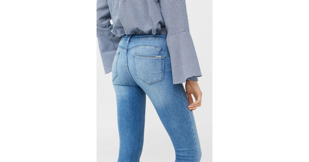 91b482936b Mango Kim Skinny Push-up Jeans in Blue - Lyst